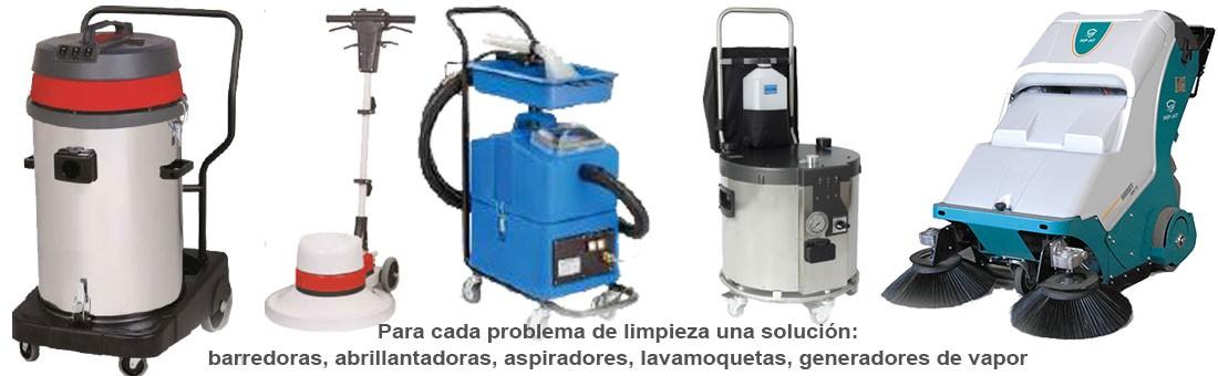 Para cada problema de limpieza una solución: barredoras, abrillantadoras, aspiradores, lavamoquetas, generadores de vapor